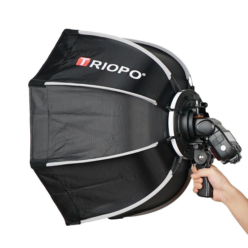 TRIOPO 65cm Umbrella Softbox Portable Outdoor Octagon For Godox V860II TT600 TT685 YN560 III IV TR-988 Flash Speedlite Soft Box