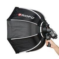TRIOPO 65cm Umbrella Softbox Portable Outdoor Octagon For Godox V860II TT600 TT685 YN560 III IV TR 988 Flash Speedlite Soft Box