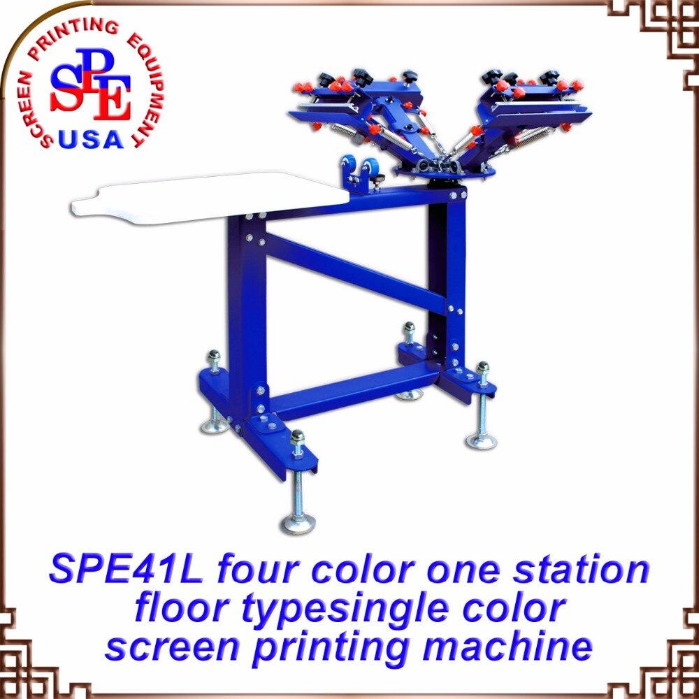 все цены на SPE41L four color one station single wheel screen printing machine screen press онлайн