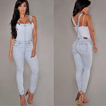 New Arrival Women Sexy Slim Fit Baggy Loose Jeans Denim Overalls Pants Jumpsuit Rompers
