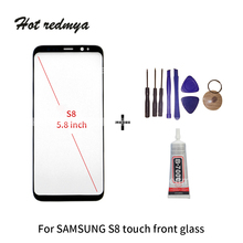 S8 Front Glass replacement For Samsung Galaxy Plus  LCD touch screen outer glass Glue ecran Tools