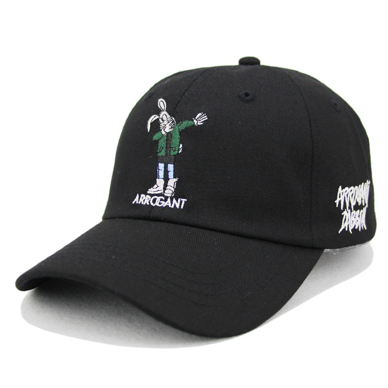 rabbit embroidery baseball cap Black&white available unisex dad hats adjustable cotton s ...