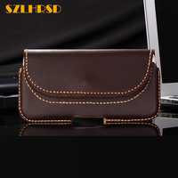 SZLHRSD Vintage Belt Clip Phone Waist Bag For Oukitel C8 4G 5inch Genuine Leathe Protective Cover