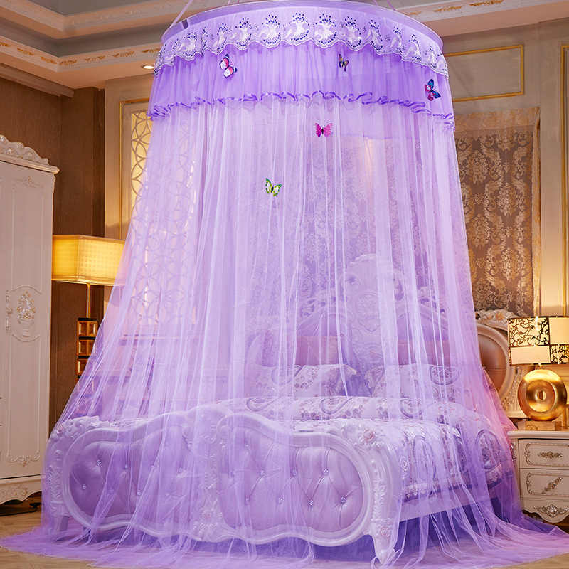 New Palace Hung Mosquito Net Portable Princess Bed Curtain Lace Repellent Insect Canopy Net Home Textile Polyester Bed Tent Mesh