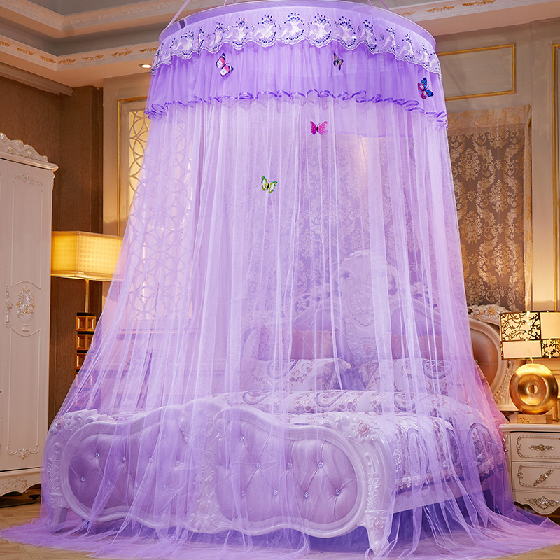 New Palace Hung Mosquito Net Portable Princess Bed Curtain Lace Repellent Insect Canopy Net Home Textile Polyester Bed Tent Mesh|Mosquito Net| |  - title=