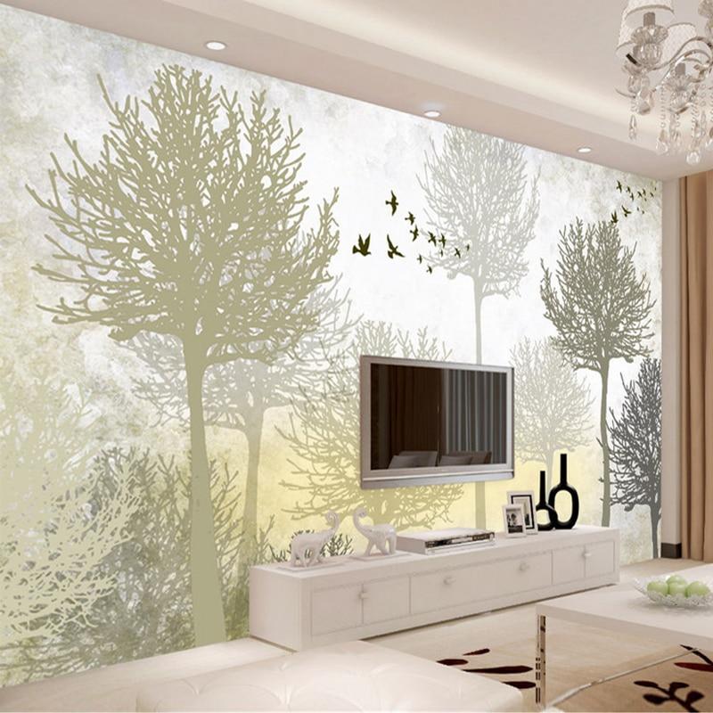 Пользовательские 3D фото обои фрески Мода Современный абстрактный лес Гостиная ТВ фон декоративная роспись стены покрытия ролл