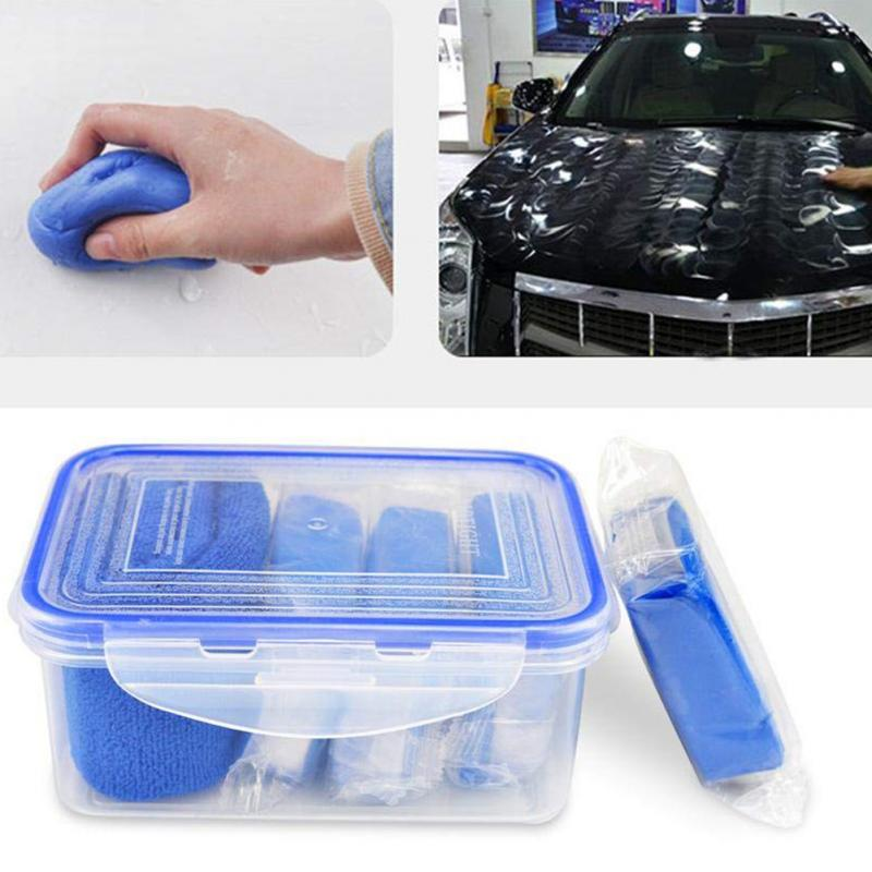 Car Wash & Maintenance Lower Price with Car Wash Mud Clean Clay Bar Car Truck Blue Cleaning Clay Bar Auto Detail Clean Clay Care Tool Sludge Wash Mud Car Washer Towel Refreshing And Enriching The Saliva