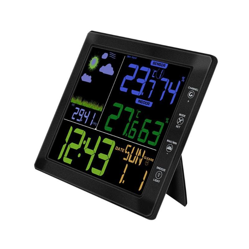 Крытый Открытый Беспроводной Термометр-Гигрометр Метеостанции Прогноз Температура влажность с измерителем, часами, будильником