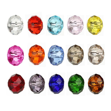 AnnBeady 50pcs 6mm Faceted Rondelle Loose Spacer Round Austria Crystal beads For DIY Jewelry Making