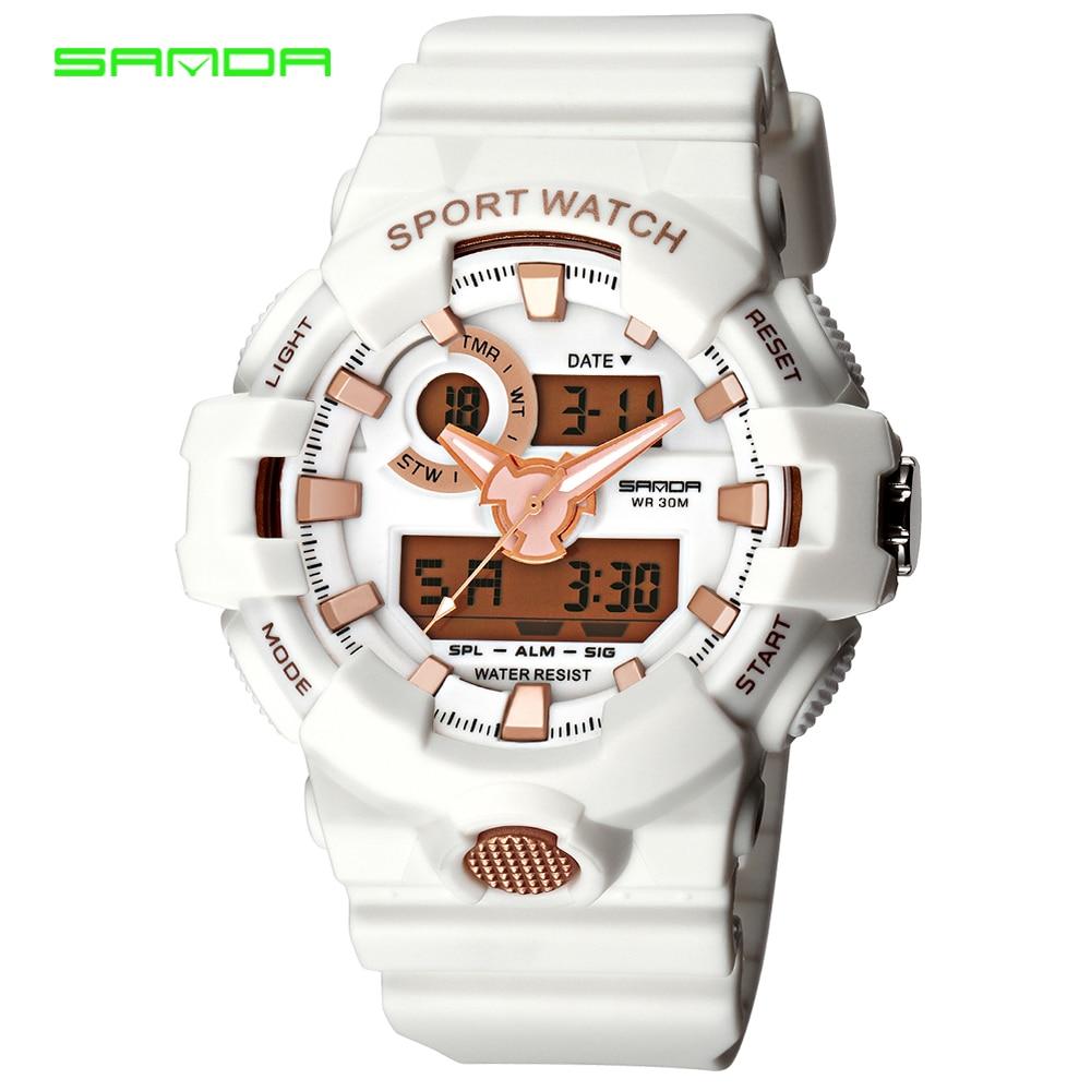 SANDA Men Watch S-Shock Military Sports Watches Quartz Analog Clock Waterproof Men G Style Wrist Shock Watch Relogio Masculino