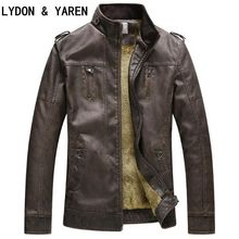 2017 Autumn-Winter Best Sales Fashion PU Artificial Leather Jacket For Men Good Quality Casual Slim For Men S Warm Jacket