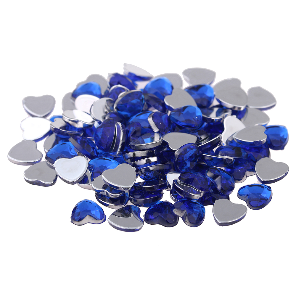 Craft Art DIY Gems 8mm 5000pcs Heart Shape Normal colors Gems Shiny Flat Facets Acrylic Rhinestone Strass Nail Stickers twelve gems