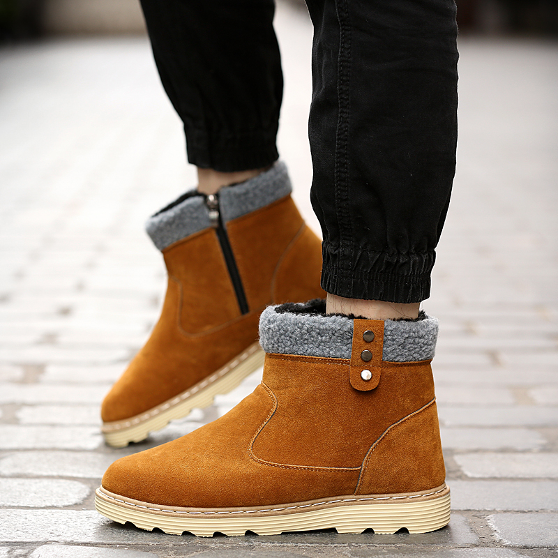 Bota Black Masculino grey Quentes Moda Slip Casual on yellow De brown Martin Ad496 Hombre Botas Homens Inverno q84Wg8Ov