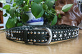 2016 Top Fashion Mens Metal Studded Belt Women Punk Rock Brand Luxury Design Leather Strap Rivet Belts Cintos Femininos
