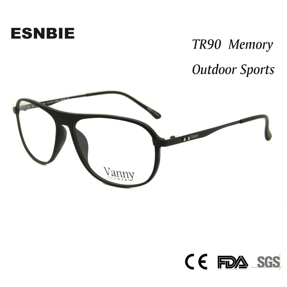 2bcc11bfcc ESNBIE TR90 Memory Mens Spectacles Frame Eyeglasses Male Glass Pilot Glasses  Frames Women Optical oculos de