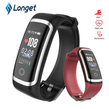 Longet M4 Fitness Tracker real-time Heart Rate Monitor + blood pressure Smart Bracelet color screen wristband For Android IOS letike f1s fitness tracker color screen blood pressure smart bracelet heart rate monitor sleep tracker wristband for android ios