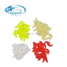 Agepoch 200pcs 2cm 0 4g Mixed Color Maggot Grub Soft Baits Smell Worm Feeder font b