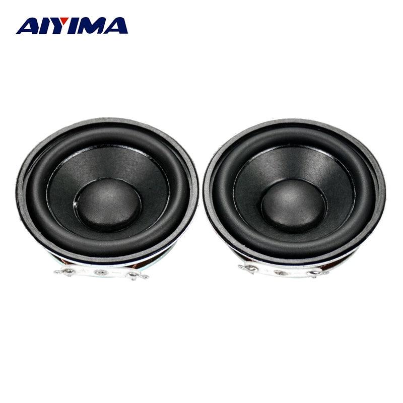 AIYIMA 2Pcs 2Inch 52MM Mini Audio Portable Speakers 16Core 3W 4Ohm Enthusiast DIY Neodymium Magnetic HiFi Full Range Speaker