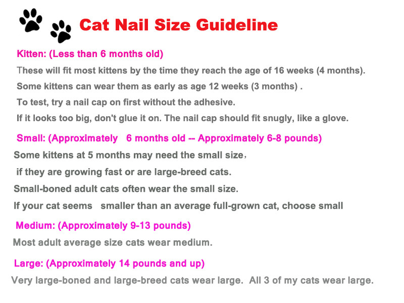 cat nail size guideline
