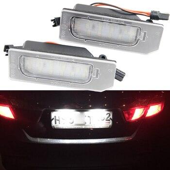 цена на 2pcs for Mitsubishi ASX 2011 2012 2013 2014 18 LED License Plate Light Number Plate Lamp Canbus  6000K White 12V Car Styling
