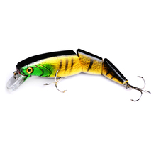 2018 New 1PCS Jointed Fishing lure 10.5CM/15G Minnow plastic artificial fishing wobbler tools jerk fish esca tackle Hot sale