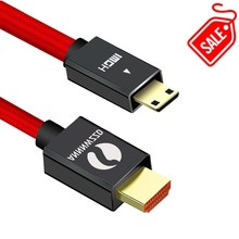 цена на Mini HDMI Cable Mini HDMI to HDMI Cable 1m 2m 3m 5m Male to Male 2.0V 1080P Cable 4K 3D for Tablet Camcorder MP4 Mini HDMI Cable