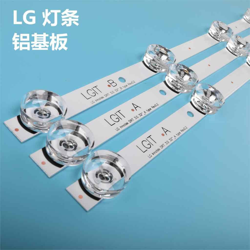 Baru 3 Pcs * 6LED 590 Mm LED Backlight Strip Bar Kompatibel untuk LG 32LB561V Uot B 32 Inch DRT 3.0 32 B 6916l-2223A 6916l-2224A