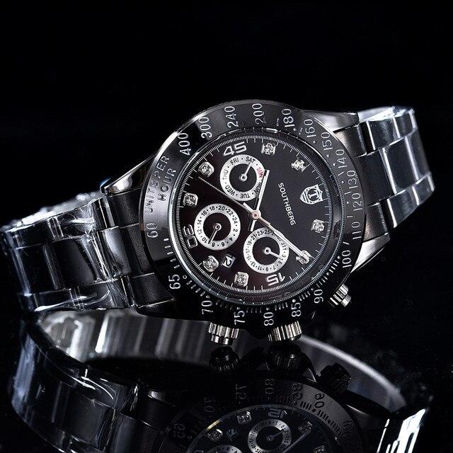 4a40811229e 2017 SOUTHBERG GMT Homens Relógio de Luxo Da Marca daytona Relógios  Masculinos Casuais Negócio Militar Esportes