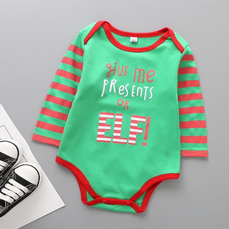8987d06a05b3 New born baby clothes Christmas baby clothes long sleeve onesie baby boy  Girls fall Winter infant Romper Jumpsuit Outfit Clothes