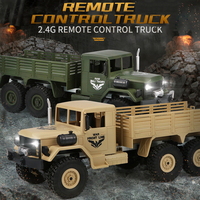 JJRC Q62 Q63 Q64 1/16 2.4G RC Car Military Truck Toy Off road Rock Crawler Remote Control Model Off Road Vehicle Toys For Kid