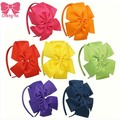 High Quality 7 Pcs/Lot Pinwheel Bow Hairband For Children Ribbon Hair Bow Hairbands For Kids Hair Accessories ZH7-1310183