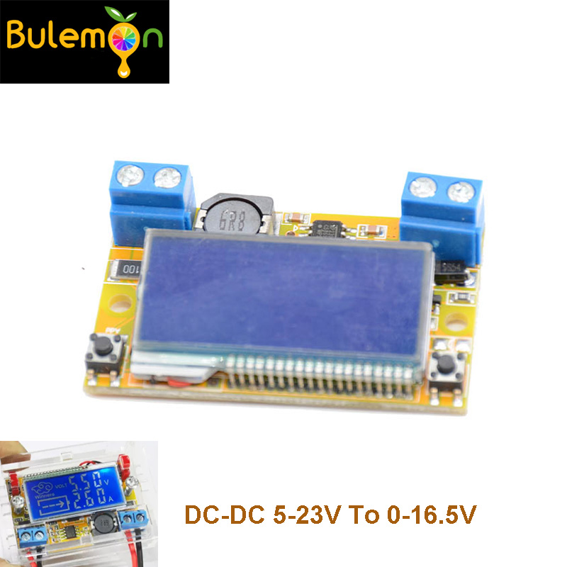 Dual Display DC-DC 5-23V To 0-16.5V 3A Max Step Down Power Supply Buck Converter Adjustable LCD Step-down Voltage RegulatorDual Display DC-DC 5-23V To 0-16.5V 3A Max Step Down Power Supply Buck Converter Adjustable LCD Step-down Voltage Regulator