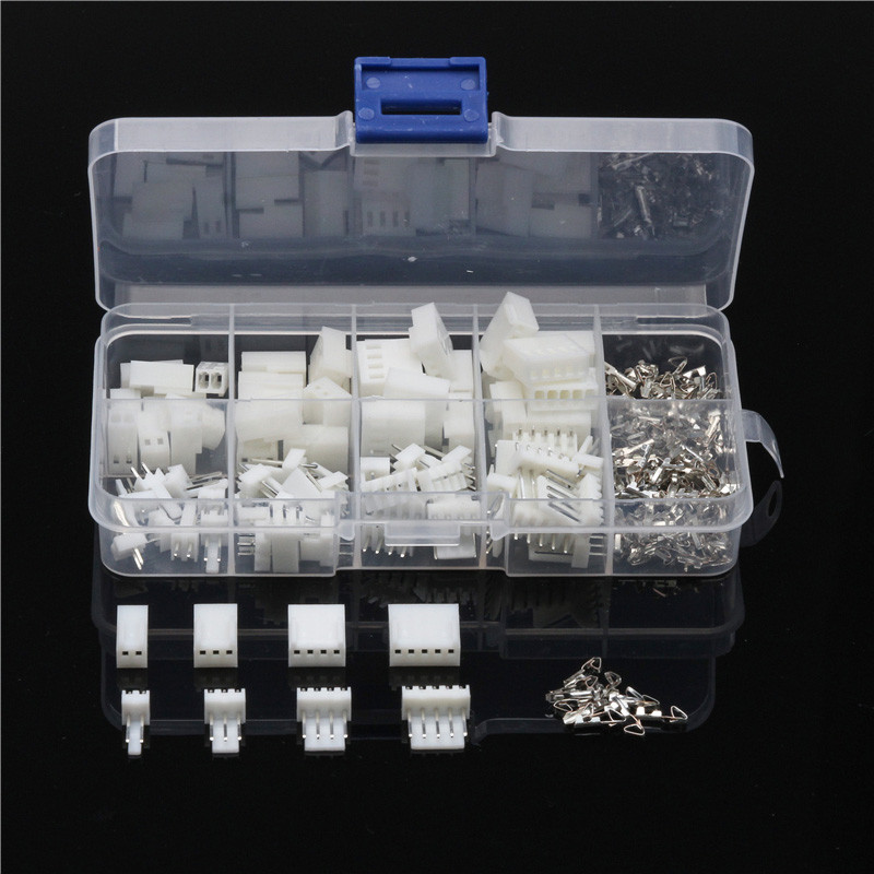 YT 150PCS JST-XH 2.54mm Wire Connectors 2/3/4/5Pin Pin Housing Terminals Dupont Wire Cable Header Male/Female Adapter Plug Kit 1000pcs dupont jumper wire cable housing female pin contor terminal 2 54mm new