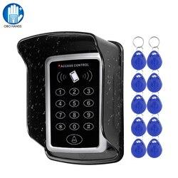 RFID Клавиатура система контроля доступа Водонепроницаемый Чехол Открытый 10 шт. EM4100/TK4100 брелоки открывалка двери для системы блокировки дома