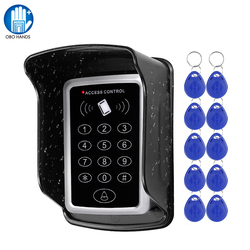Tastiera RFID Sistema di Tastiera di Controllo di Accesso Impermeabile Della Copertura Esterna di 10pcs EM4100/TK4100 Telecomandi Apriporta per la Casa di Blocco sistema di