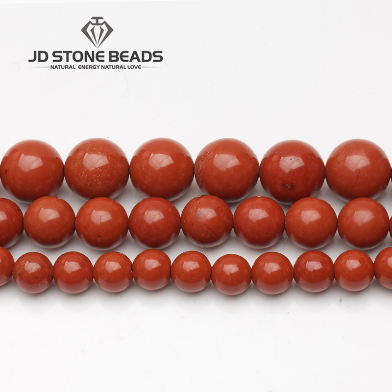 Free Shipping Natural Red Jasper Beads 3-12mm Semi-Finished Handmade DIY Bracelet Beads Accessories Gemstone For Jewelry Making
