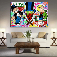 Alec Monopoly x TAG Heuer Wall Art Canvas Painting Posters Prints Modern Pictures For Living Room Home Decoration
