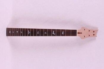1 Uds. De cuello de guitarra eléctrica sin terminar hecho de caoba y perno de diapasón de palisandro en 22 traste