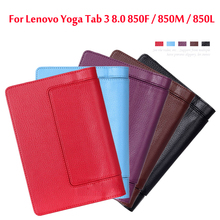 Ultra thin smart PU leather stand cover case For lenovo Yoga