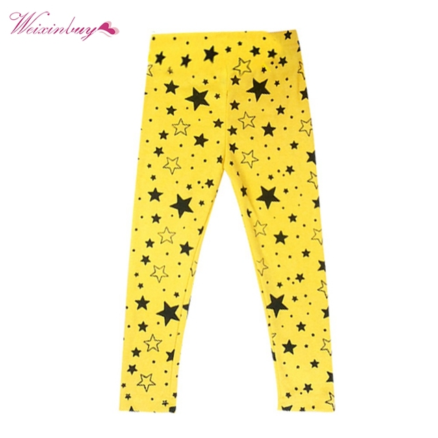 317068bd99269 New Baby Girls Kids Skinny Toddlers Star Print Leggings Pants Trousers 2-7  Years