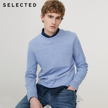 SELECTED Men's Winter Cashmere-blend Round Neckline Knitted Bussiness Casual Sweater