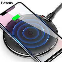 Baseus Leather Qi Wireless Charger For iPhone Xs Max Samsung S10 Xiaomi Mi 9 Mix 3 Doogee S60 Fast Wirless Wireless Charging Pad