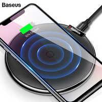 Baseus caso di Cuoio Qi Caricatore Senza Fili Per iPhone 11 Pro Xs Max X Samsung Nota 10 S10 Xiao mi mi 9 veloce Wirless Pad di Ricarica Senza Fili