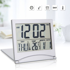 Folding LCD Digital Alarm Cloc