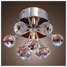 Высокое качество современная семейная Классическая заподлицо k9 хрустальный шар сияющая люстра лампа 110-240 В