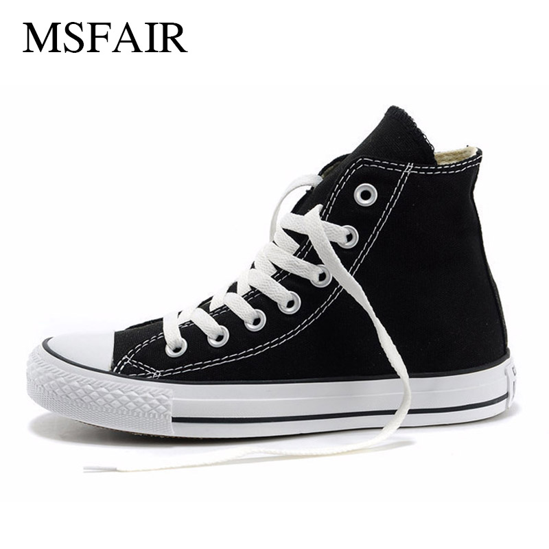 Msfair High help Canvas Shoes Men Skateboarding Shoes Male Skate Woman Brand Sport Shoes For Women Walking Women Men Sneakers