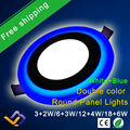 New Design Round LED Panel Downlight 5W 9W 16W 24W 3 Model LED Panel Lights AC85-265V Recessed Ceiling Painel Lights CE ROHS