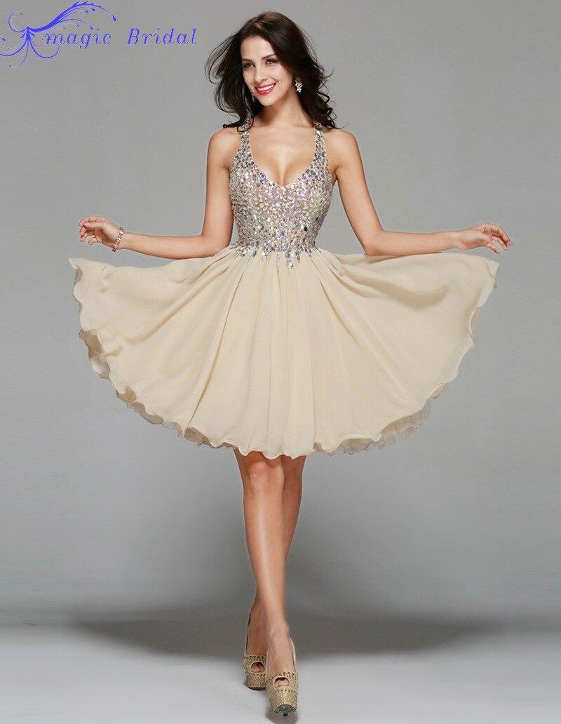 Champagne color cocktail dresses