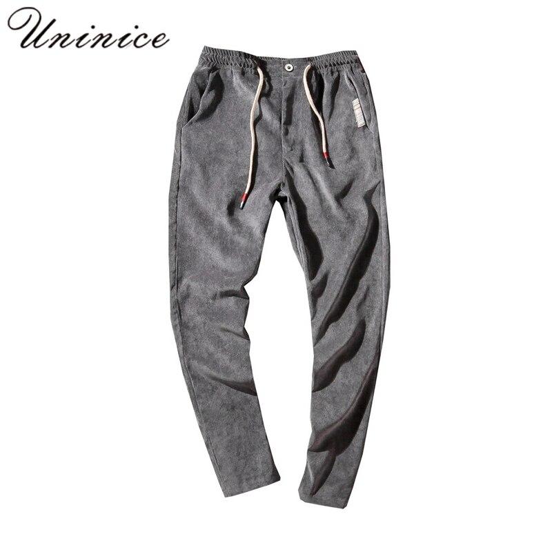 Autumn Winter Plus Size 5XL PANTS Mens New Japanese Corduroy Teenager Male Pantsuit Thick Warm Waist Trousers Harem Pants ...