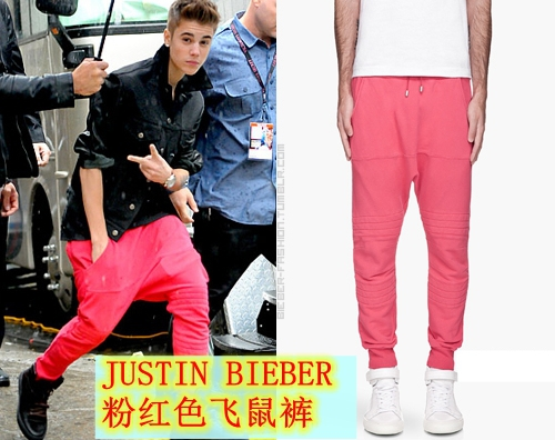 27-36! Новая мужская мода ночной клуб JustinBieber розовые шаровары брюки плюс размер сценические костюмы певицы одежда